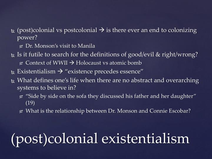 (post)colonial