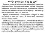 what the class had to say