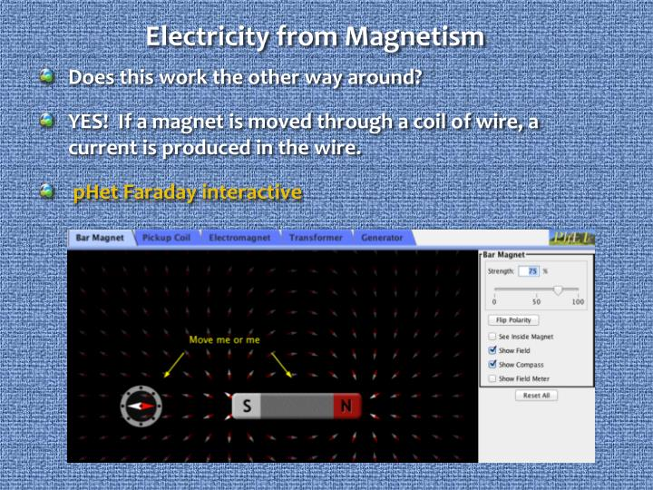Electricity from Magnetism