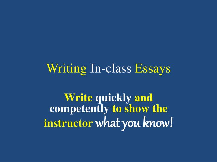Writing Techniques For Essays