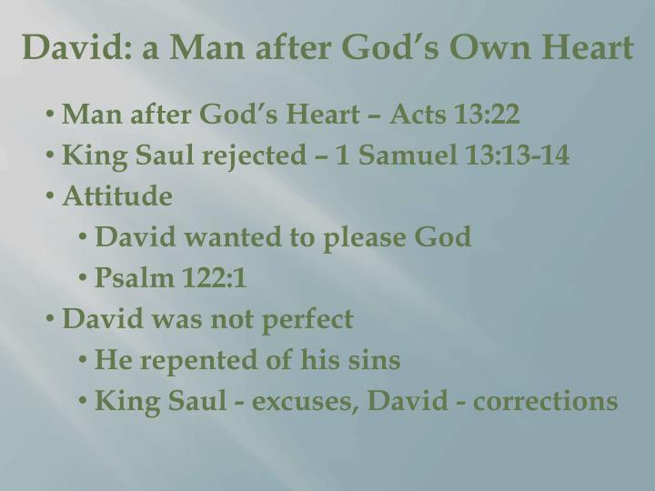 David: a Man after God's Own Heart