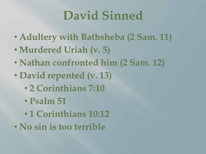 David Sinned
