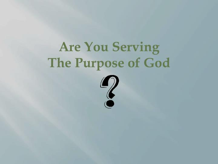 Are You Serving