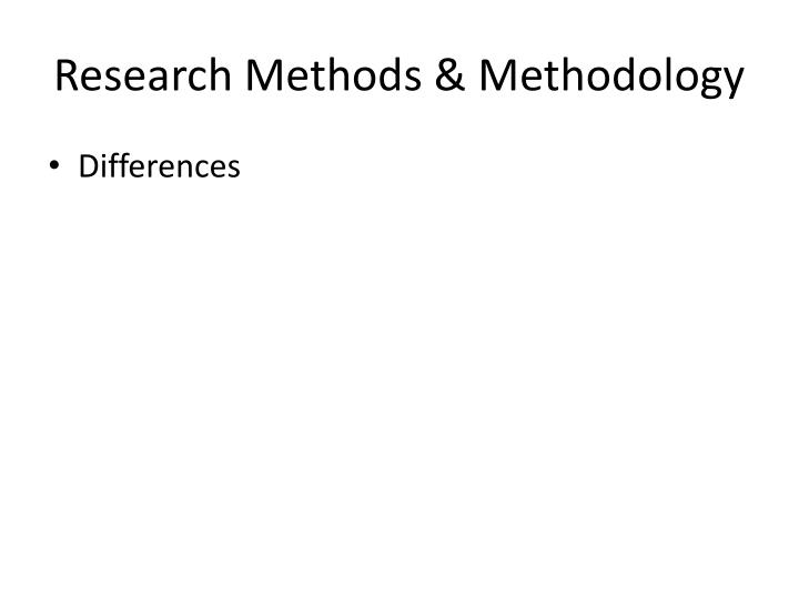 Research Methods & Methodology