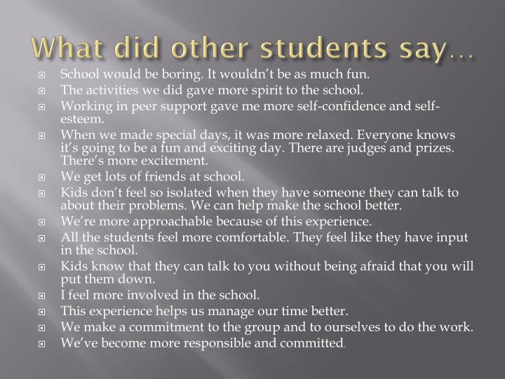 What did other students say…