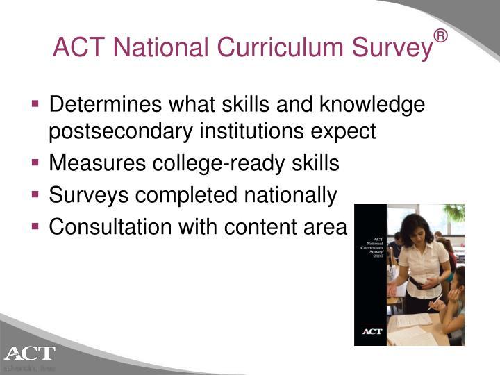 ACT National Curriculum Survey
