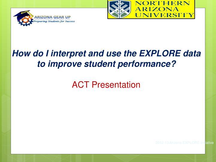 How do I interpret and