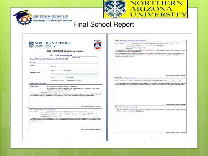 Final School Report