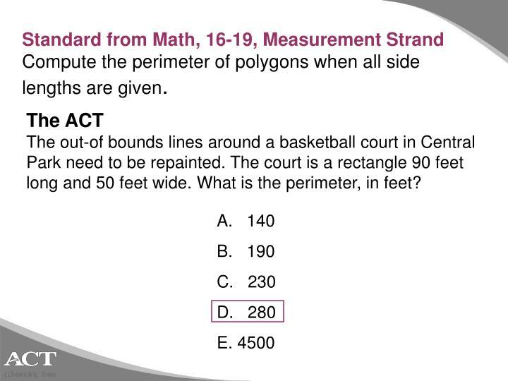 Standard from Math,