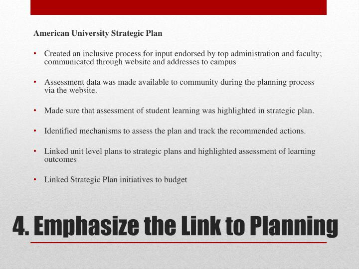 American University Strategic Plan