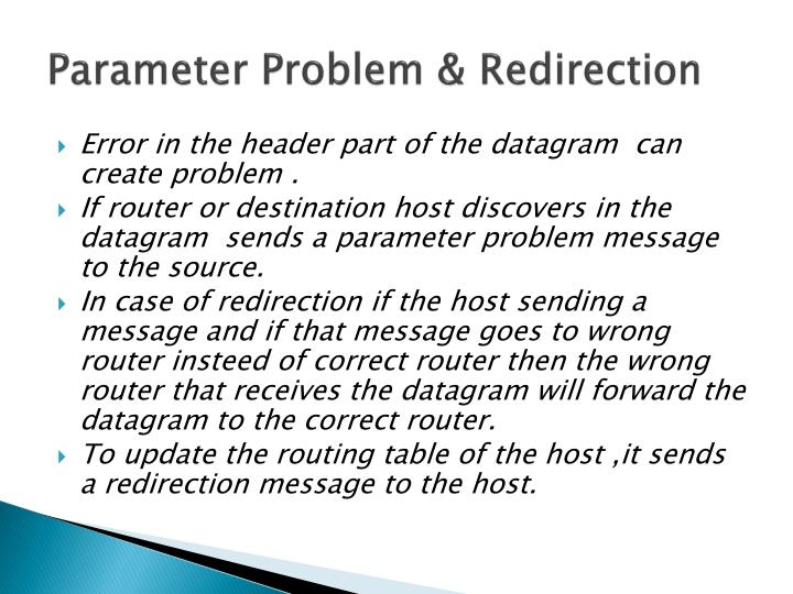 Parameter Problem & Redirection