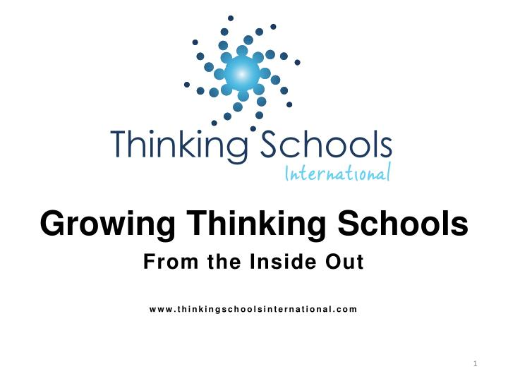 Growing Thinking Schools