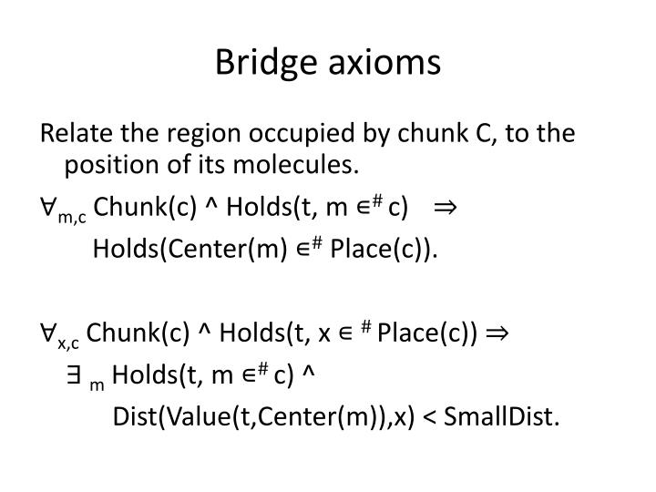 Bridge axioms