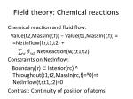 field theory chemical reactions