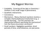my biggest worries