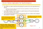 13 3 2 active replication for fault tolerance