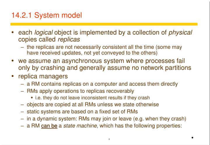 14.2.1 System model