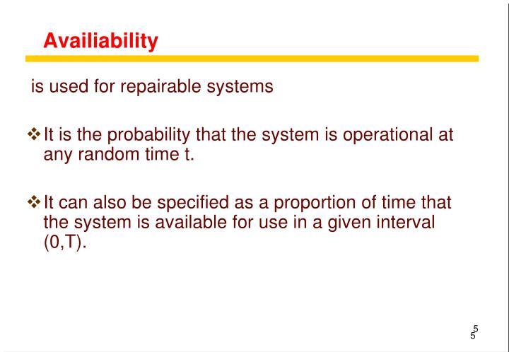 Availiability
