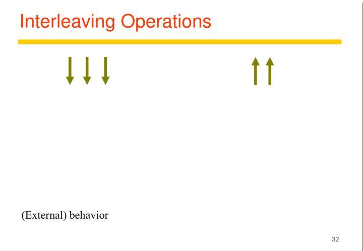 Interleaving Operations