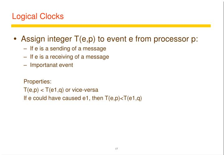 Logical Clocks
