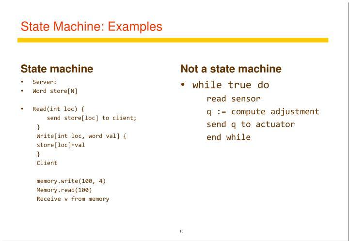 State Machine: Examples