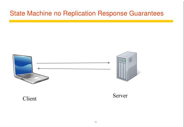 State Machine no Replication Response Guarantees
