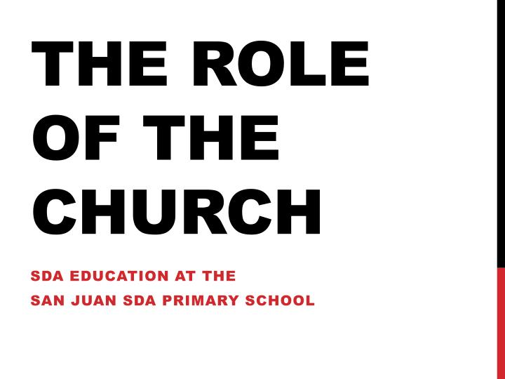 the role the church has played in school education