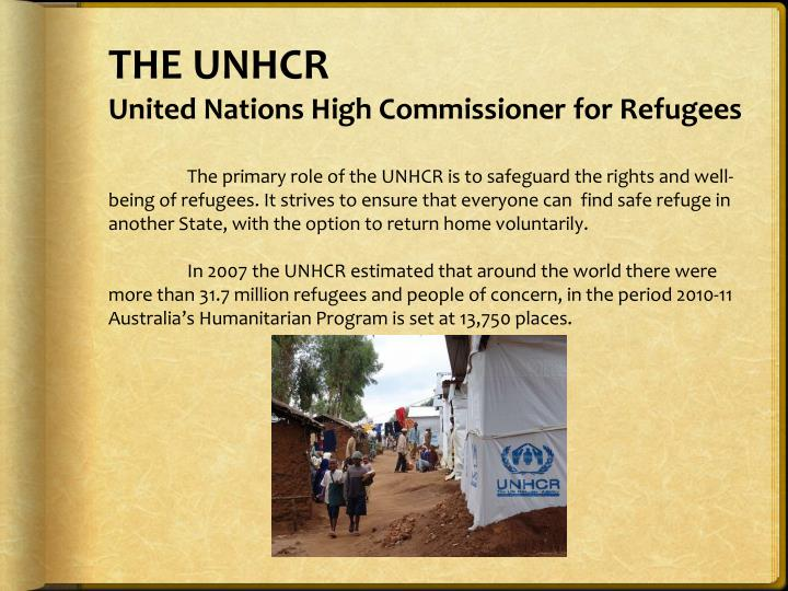 THE UNHCR