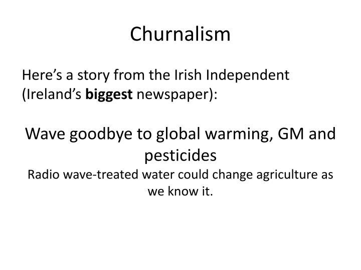 Churnalism