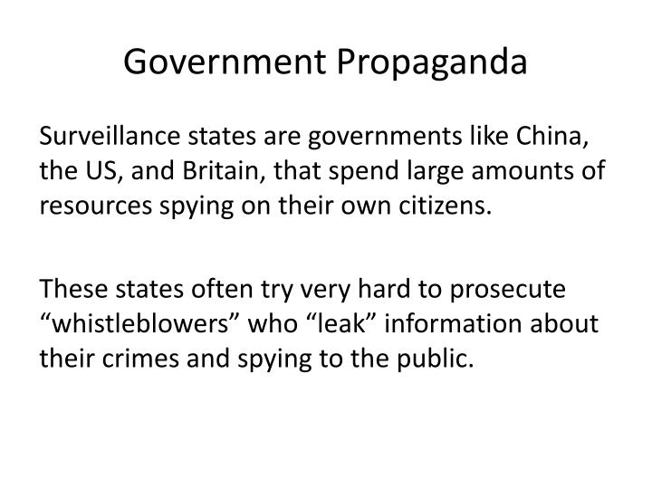 Government Propaganda