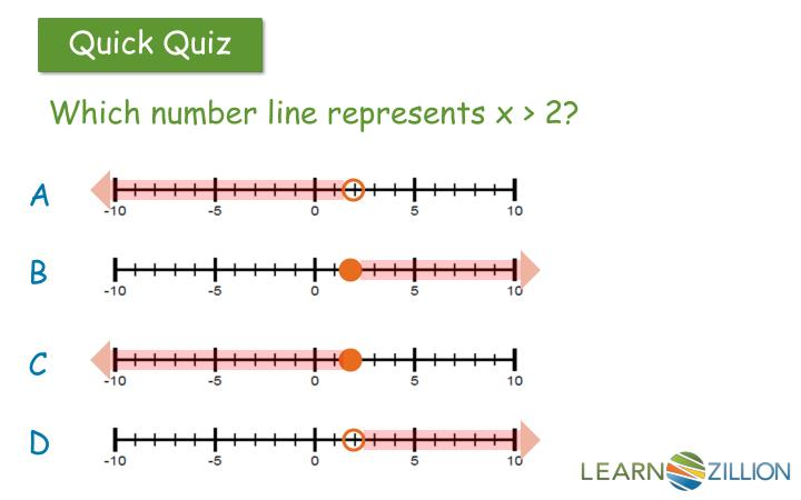 Which number line represents x > 2?