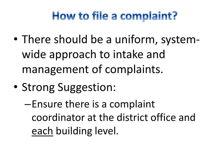 How to file a complaint?