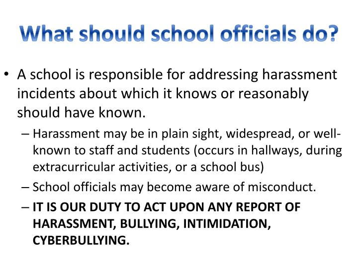 What should school officials do?