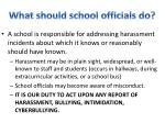 what should school officials do