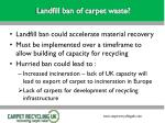 landfill ban of carpet waste