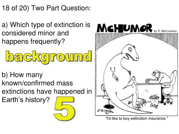 18 of 20) Two Part Question