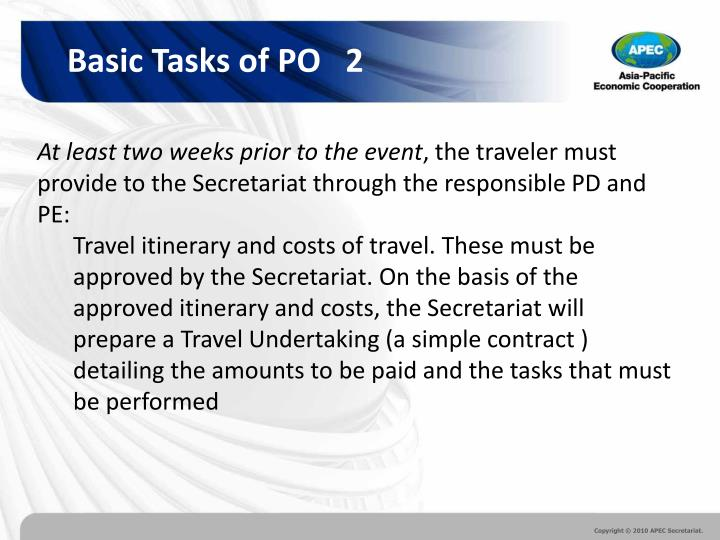 Basic Tasks of PO   2