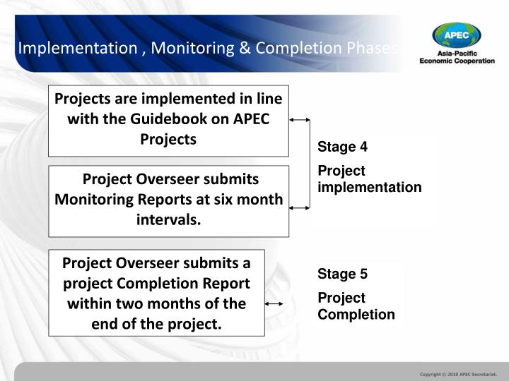 Projects are implemented in line with the Guidebook on APEC Projects
