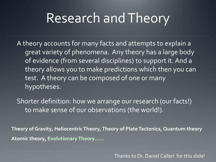 Research and theory