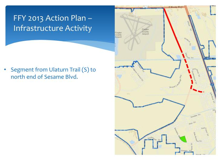 FFY 2013 Action Plan – Infrastructure Activity