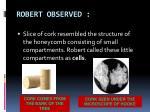 robert observed