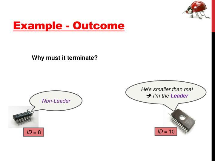 Example - Outcome