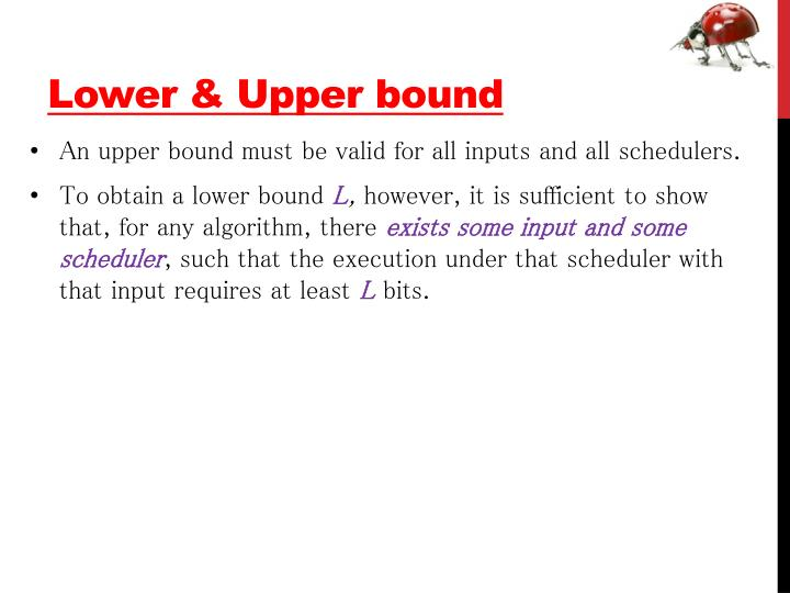 Lower & Upper bound