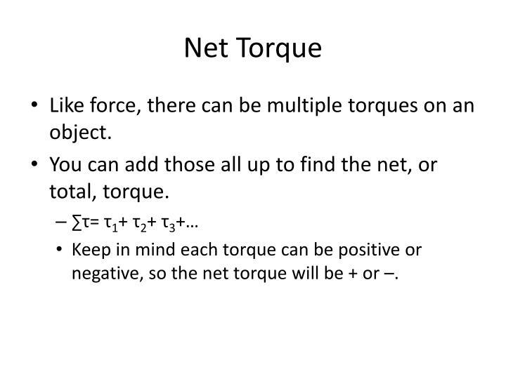 Net Torque