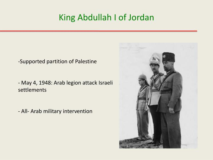 Supported partition of Palestine