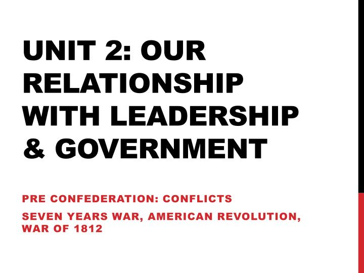 unit 2 our relationship with leadership government