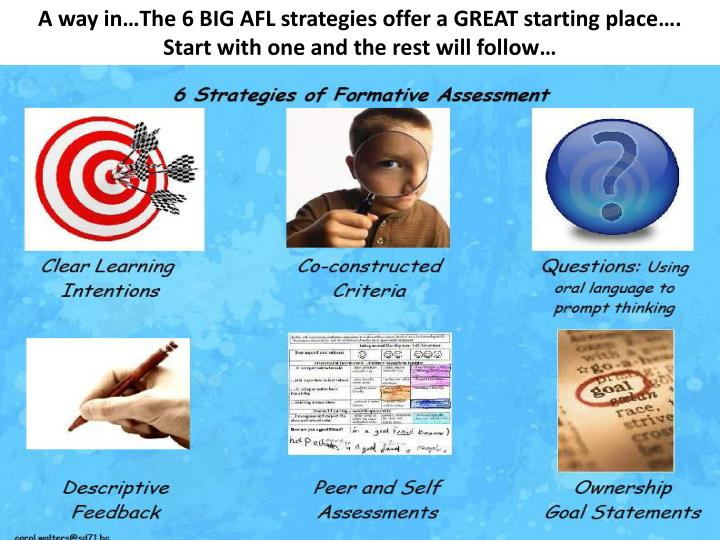 A way in…The 6 BIG AFL strategies offer a GREAT starting place….