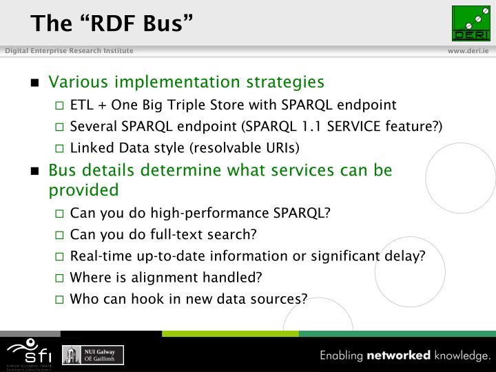 """The """"RDF Bus"""""""