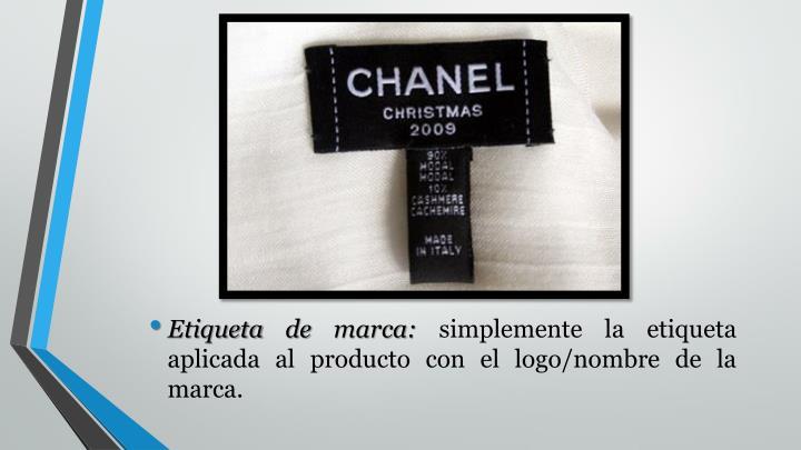 Etiqueta de marca: