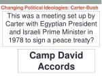 changing political ideologies carter bush10